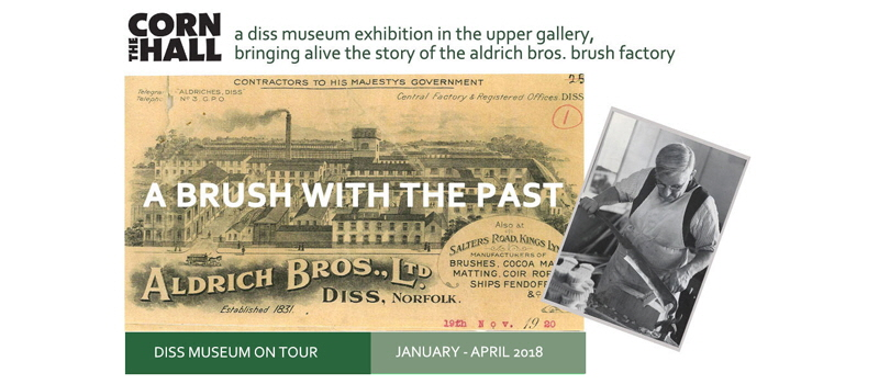 Visit our Museum on Tour display in the Corn Hall - A Brush with the Past - January - April 2018
